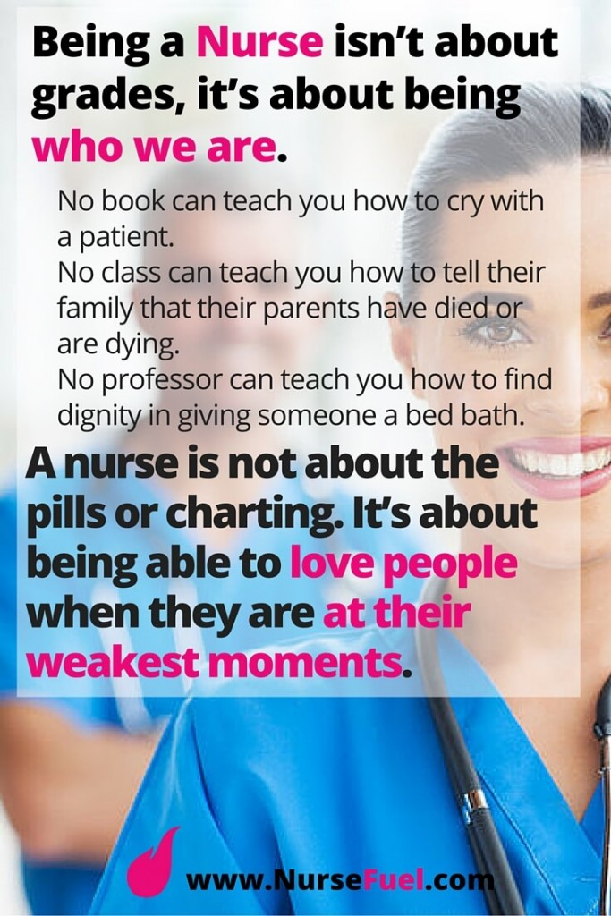 Being a nurse is about being who we are - http://www.NurseFuel.com
