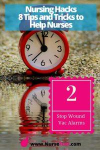 Nursing Hacks - Wound Vac Alarm - http://www.NurseFuel.com